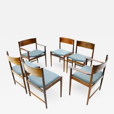 Sibast Furniture Co Set of Six Kurt Ostervig Dining Chairs for Sibast Denmark 1960s