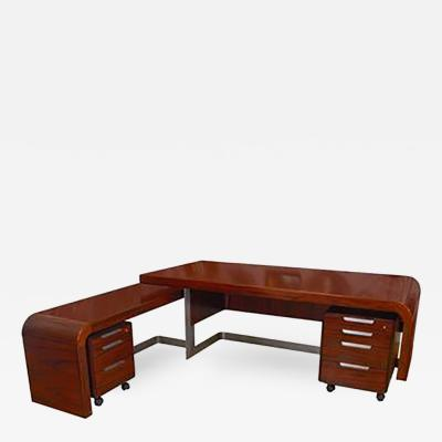 Sibast Furniture Co Stunning Modern Custom Rosewood Desk Suite