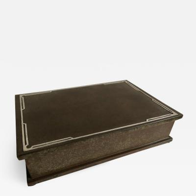 Silvercrest Bronze Silver Crest Mens Humidor Box Bronze and Sterling