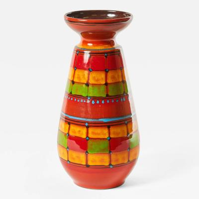 Sinta A Hand Decorated Sinta Signed Vase