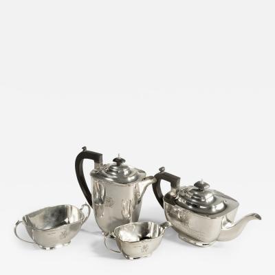 Sir Stanley Mathews four piece silver tea set