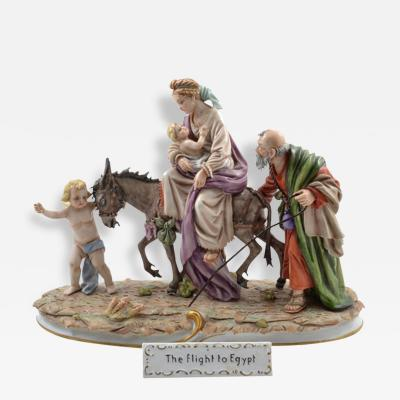 Sitzendorf Porcelain Manufactory 1954 The Flight to Egypt Porcelain Group Germany