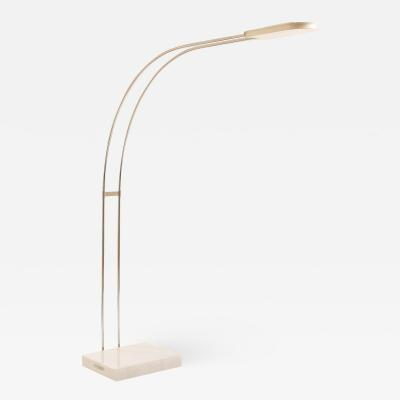 Skipper White Gesto floor lamp by Bruno Gecchelin for Skipper 1975