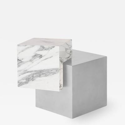 Slash Objects COEXIST ASKEW SIDE TABLE IN STAINLESS STEEL