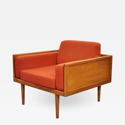 Smilow Thielle Mel Smilow for Smilow Thielle Walnut Case Lounge Chair