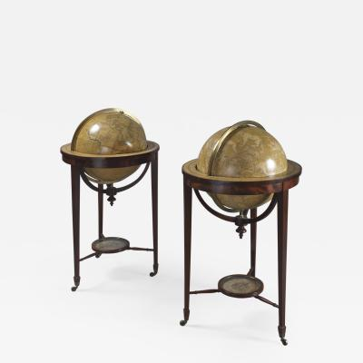 Smith Son A Fine Pair of Eighteen Inch Library Globes