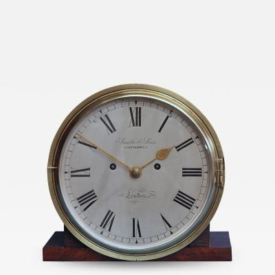 Smith Son Late Victorian Nautical Striking Bulkhead Clock Incorporating the Dog Watches