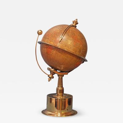 Smith Son c 1885 French Polished Brass World Time Globe Clock