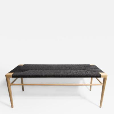 Solid Ash Frame with Hand Woven Black Rush Seat