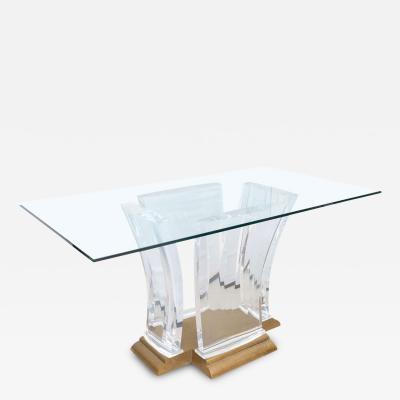 Spectrum Limited Spectrum Bronze Lucite Table