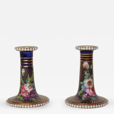 Spode A fine pair of Spode minature candlesticks Patten No 2478