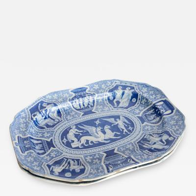 Spode Two Large Spode Greek Platters England Early 19th Century