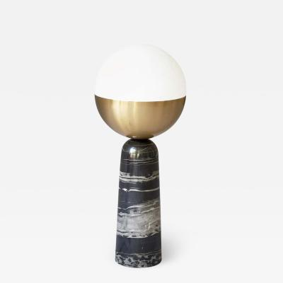 Square In Circle BRASS GLOBE TABLE LAMP SQUARE IN CIRCLE