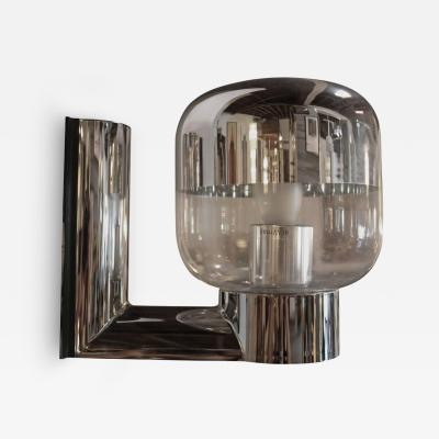 Staff Leuchten 1970s Chromed and Glass Wall Sconce by Staff Germany