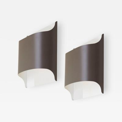 Staff Leuchten Pair of German Architectural Wall Lamps by Staff 1970s