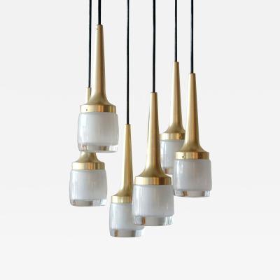 Staff Leuchten Six Light Hanging Fixture by Staff of Germany