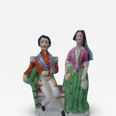 Staffordshire Staffordshire Florence Nightingale titled figure