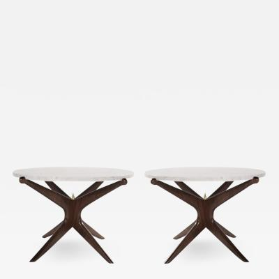 Stamford Modern Pair of Modernist Gazelle End Tables