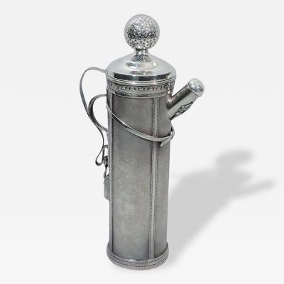 Standard Silver Company Golf Bag Cocktail Shaker Art Deco by George Berry