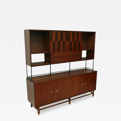 Stanley Inlaid Walnut Cabinet by Stanley USA