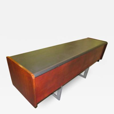 Ste Marie Laurent Fabulous Rosewood and Chrome Credenza by Ste Marie Laurent