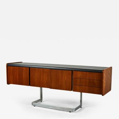 Ste Marie Laurent Rosewood and Chrome Credenza by Ste Marie Laurent
