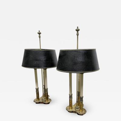 Stiffel Lamp Company Pair Brass Stiffel Lamps