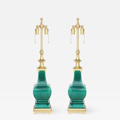 Stiffel Lamp Company Stffel Jade Green Porcelain Lamps