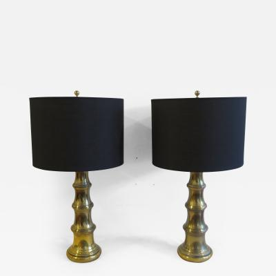 Stiffel Pair of Brass Stiffel Lamps