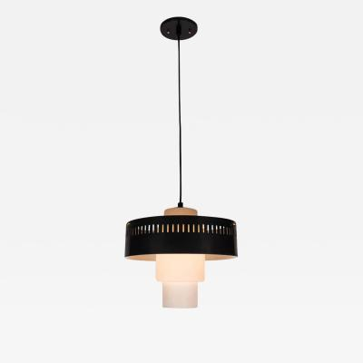 Stilnovo 1950s Brass and Glass Suspension Light Attributed to Bruno Gatta for Stilnovo