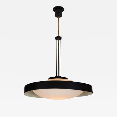 Stilnovo 1950s Brass and Glass Suspension Light Attributed to Bruno Gatta for Stilnovo