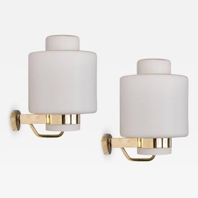 Stilnovo 1950s Stilnovo 2120 Brass and Glass Sconces