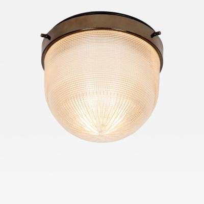Stilnovo 1960s Stilnovo Brass and Glass Ceiling Lamp
