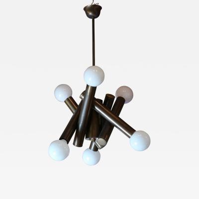 Stilnovo A Brass Ceiling Lamp by Stilnovo Italy 1950