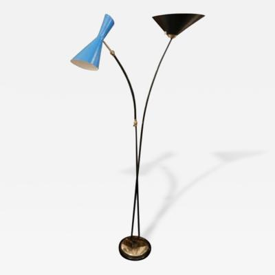 Stilnovo A Modernist Mid Century Two Armed Floor Lamp by Stilnovo