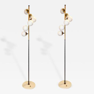 Stilnovo A Pair of Mid Century Floor Lamps by Stilnovo