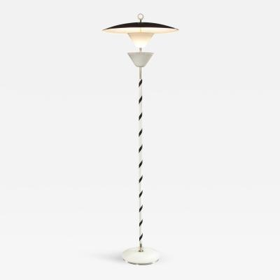 Stilnovo A Rare Italian Painted Metal and Brass Floor Lamp