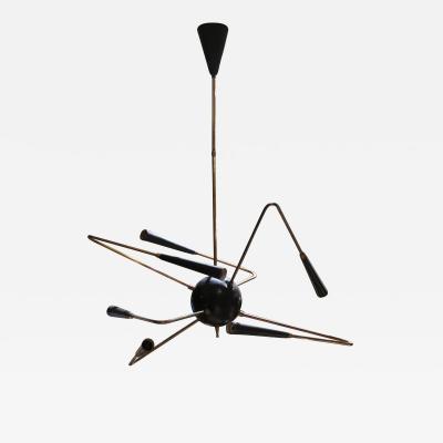 Stilnovo An original ceiling lamp by Stilnovo Italy 50