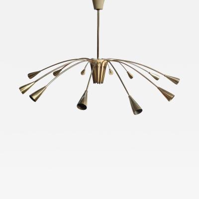 Stilnovo Brass Stilnovo twelve lights chandelier
