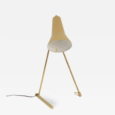 Stilnovo Brass Table Lamp with Yellow Shade