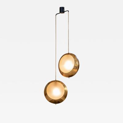 Stilnovo Brass and Glass Pendant by Stilnovo