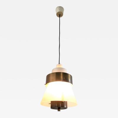 Stilnovo Brass and Plexiglass Pendant by Stilnovo Italy 1950s
