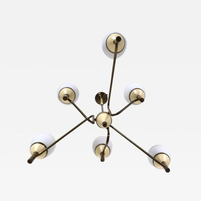 Stilnovo Chandelier in the Manner of Stilnovo Italy 1950s