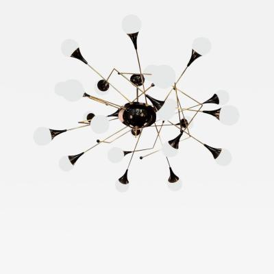 Stilnovo Exceptional Huge Atomic or Sputnik Chandelier in the Style of Stilnovo