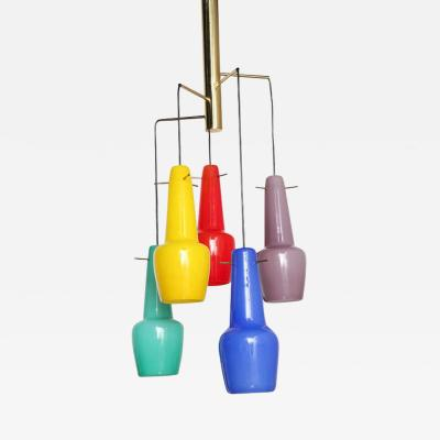 Stilnovo Five Light Chandelier by Stilnovo Made in Italy