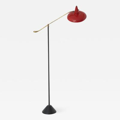 Stilnovo Floor Lamp with Red Shade