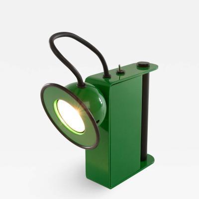 Stilnovo Green Minibox Table lamp by Gae Aulenti Piero Castiglioni for Stilnovo 1980s