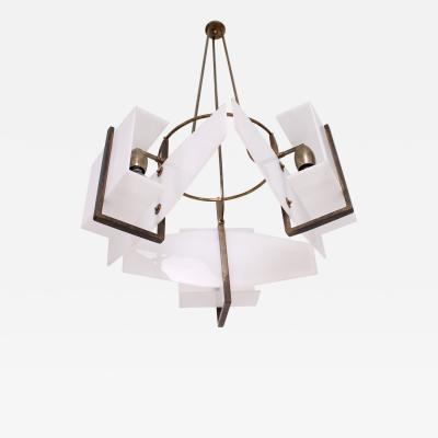 Stilnovo Italian Modernism Vintage Chandelier
