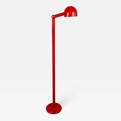 Stilnovo Italian Red Metal Floor Lamp from Stilnovo 1960s