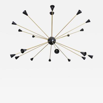 Stilnovo Large Sputnik Chandelier Italy circa 1960